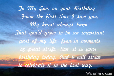 happy 6th birthday poem ; 2455-son-birthday-poems