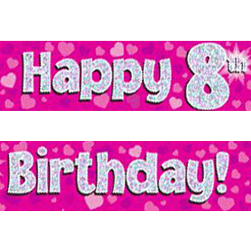 happy 8th birthday ; pink-age-8-banner-big