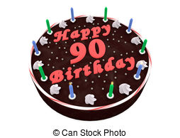 happy 90th birthday free clip art ; chocolate-cake-for-90th-birthday-chocolate-cake-with-happy-birthday-and-the-age-stock-illustration_csp16325861
