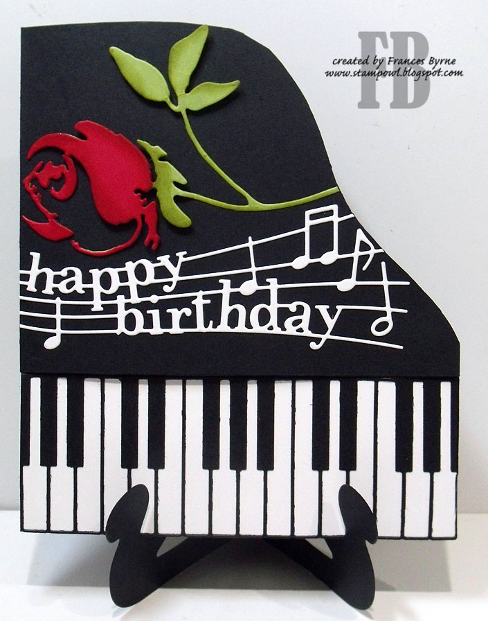 happy bday piano ; HBRosePiano3wm
