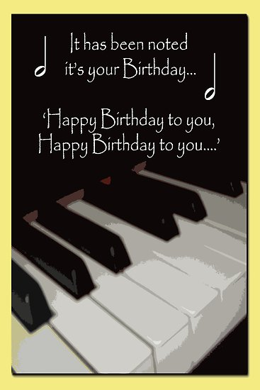 happy bday piano ; flat,550x550,075,f