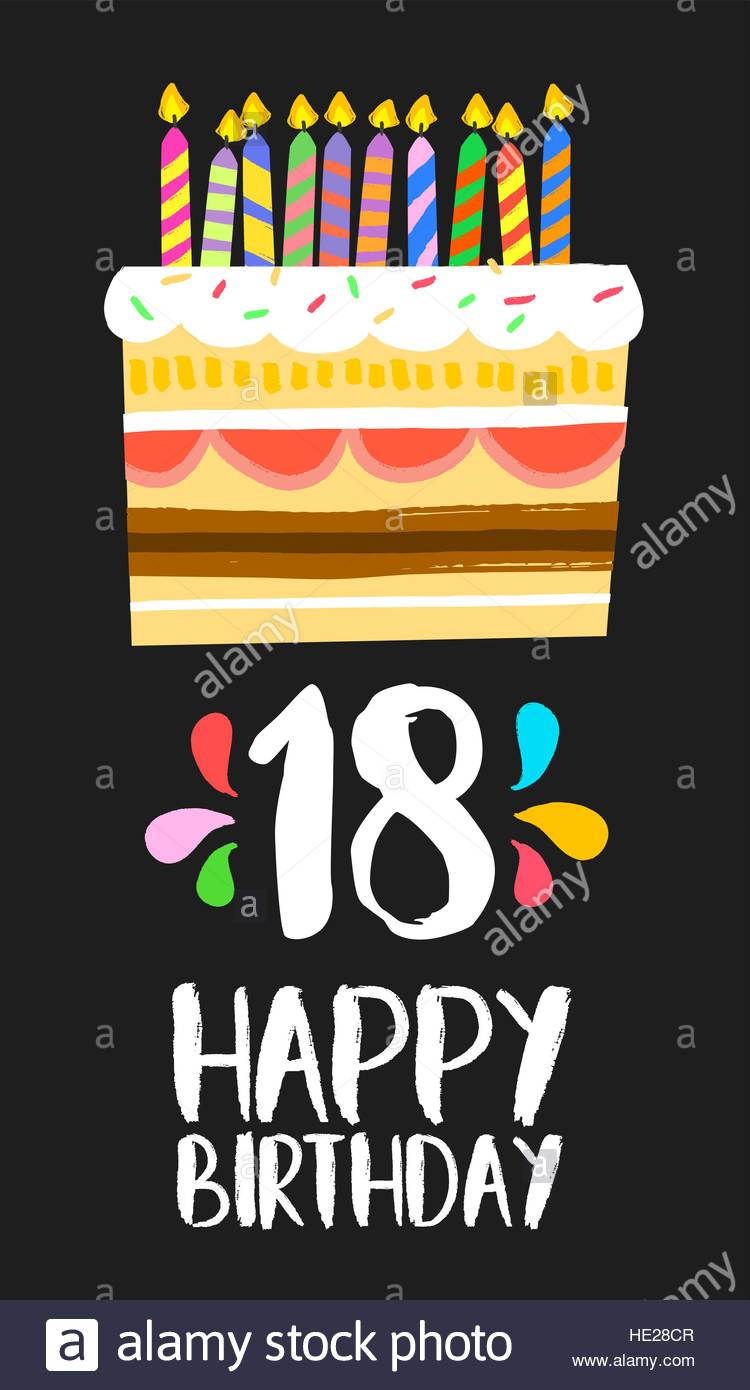 happy birthday 18 ; happy-birthday-number-18-greeting-card-for-eighteen-years-in-fun-art-HE28CR
