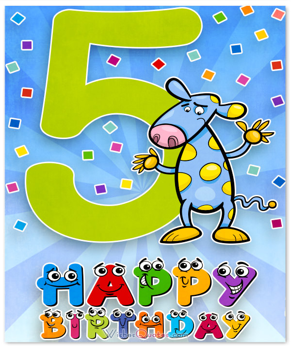 Happy Birthday 5 Year Old Boy Card