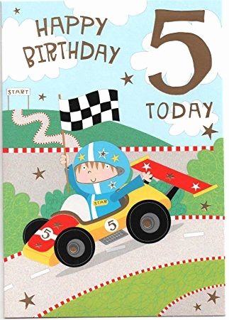 happy birthday 5 year old boy ; 5-year-old-birthday-card-awesome-car-racing-birthday-card-for-five-5-year-old-boy-free-1st-of-5-year-old-birthday-card