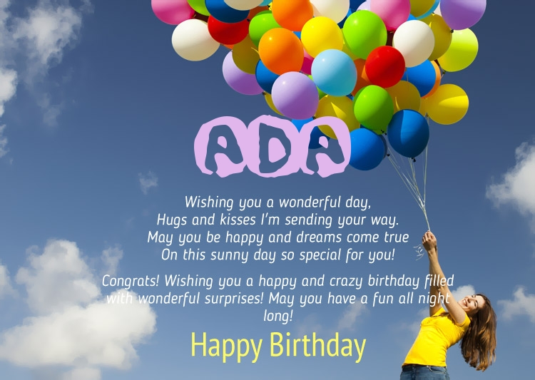 happy birthday ada ; 12671