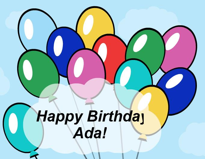 happy birthday ada ; full