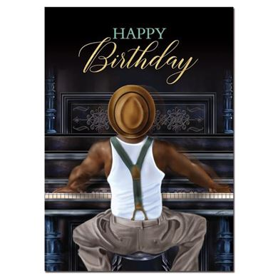 happy birthday african american man ; 0004042_happy-birthday-piano-man_390