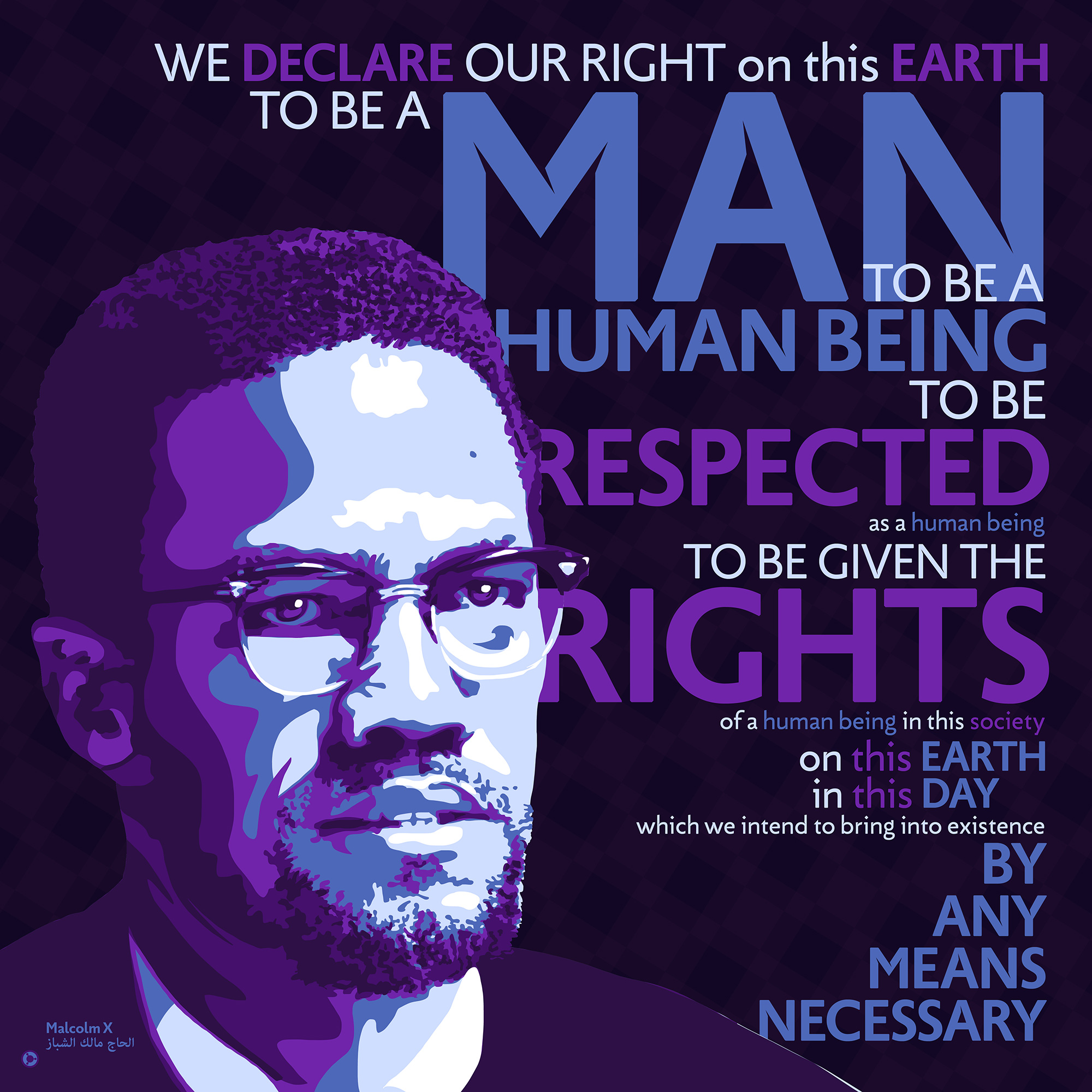happy birthday african american man ; Malcolm-X