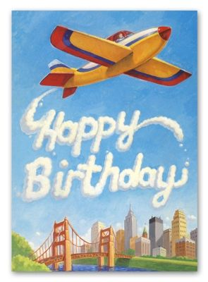 happy birthday airplane message ; 0b0c8db847892830549308b0c1d4cf63