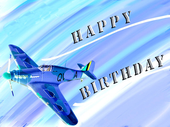 happy birthday airplane message ; 319871