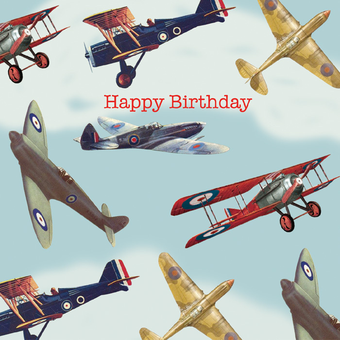 happy birthday airplane message ; PT108