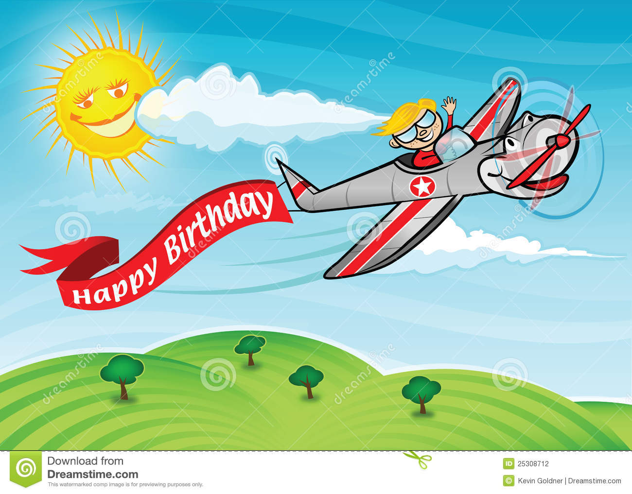 happy birthday airplane message ; birthday-plane-25308712