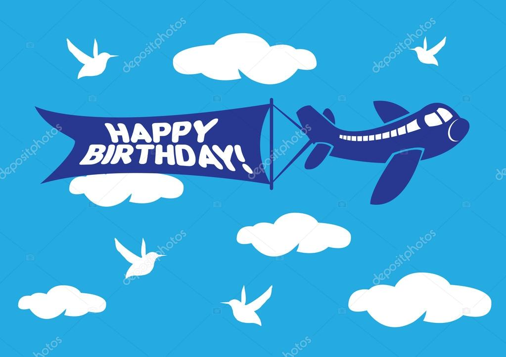 happy birthday airplane message ; depositphotos_45576947-stock-illustration-aeroplane-with-birthday-flying-message