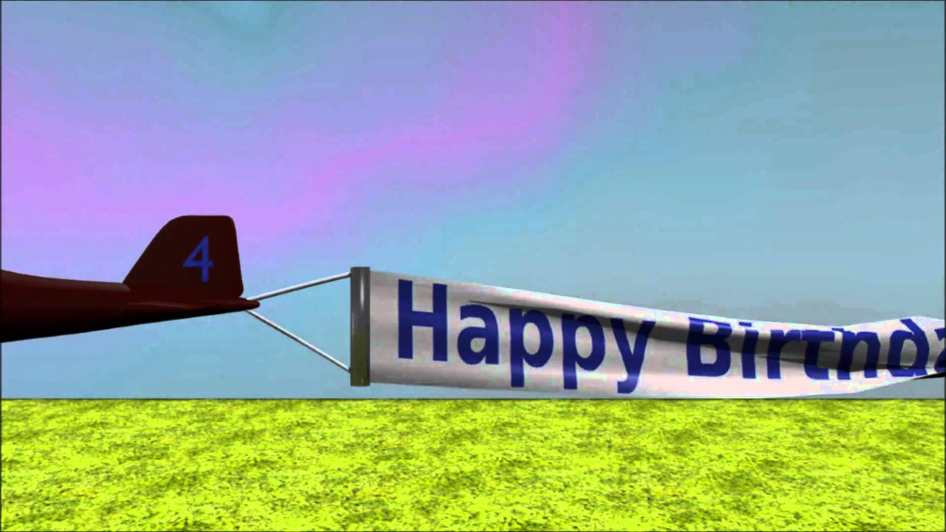 happy birthday airplane message ; maxresdefault
