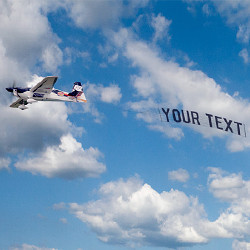 happy birthday airplane message ; medium