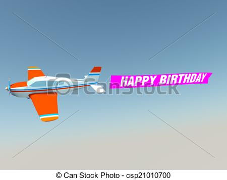 happy birthday airplane message ; plane-with-happy-birthday-banner-drawing_csp21010700