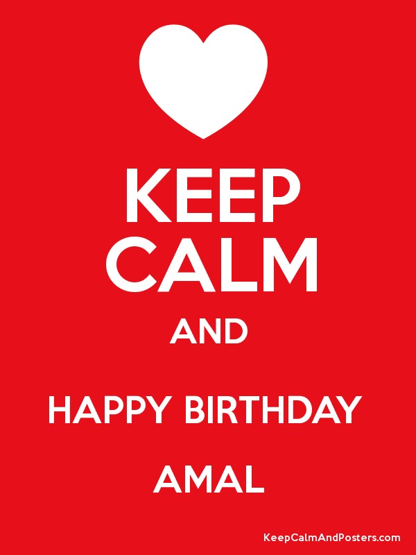 happy birthday amal ; 4908936