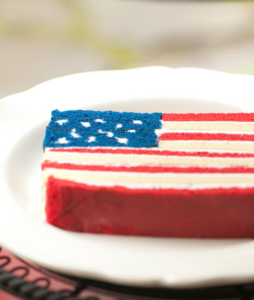 happy birthday american flag ; cake_america_main1