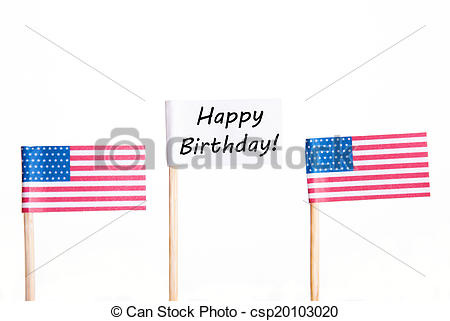 happy birthday american flag ; flag-with-happy-birthday-stock-photo_csp20103020