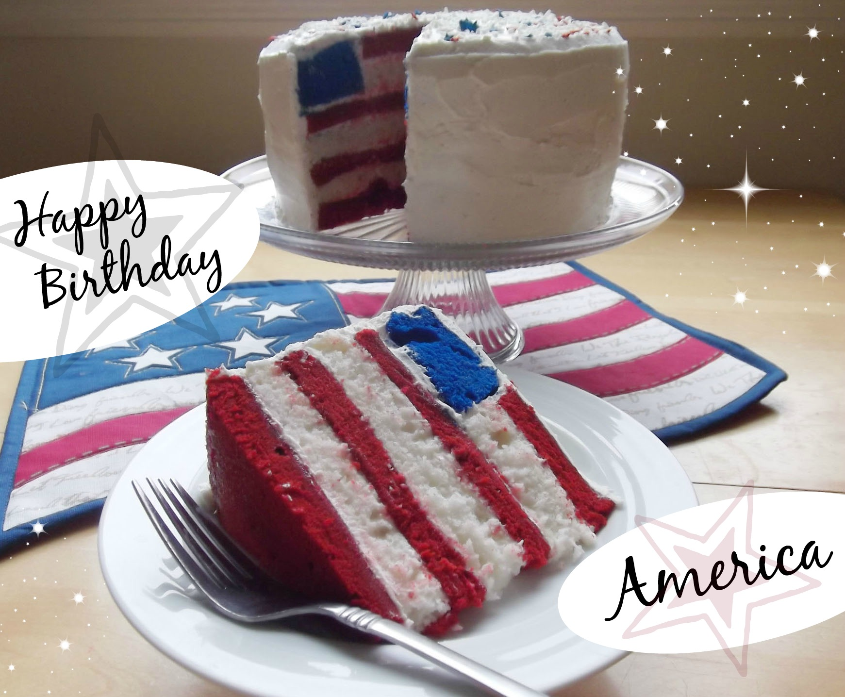 happy birthday american flag ; flagcakebirthday