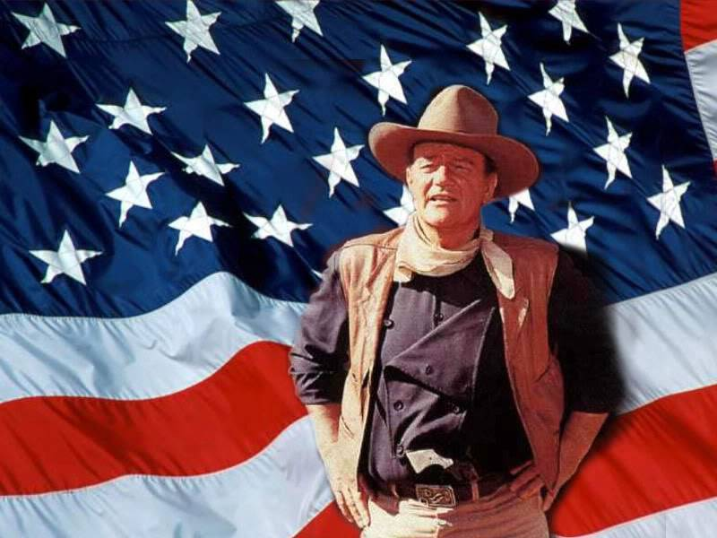 happy birthday american flag ; john_wayne