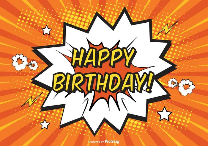 happy birthday art pictures ; comic-happy-birthday-illustration-vector