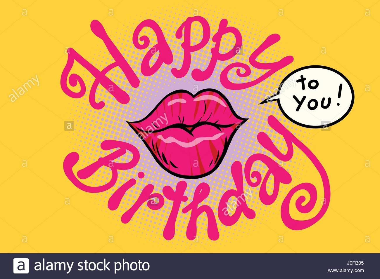 happy birthday art pictures ; red-lips-happy-birthday-to-you-comic-cartoon-illustration-pop-art-J0FB95