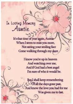 happy birthday aunt in heaven ; 2ba25d5ad0d0db653edd086253151224--aunt-bday-cards