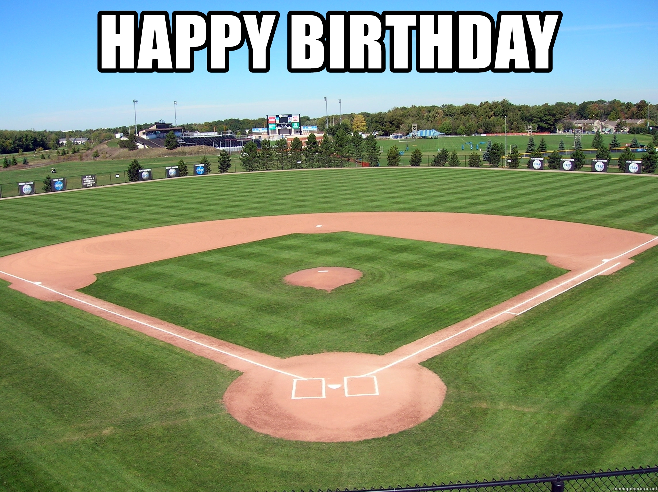 happy birthday baseball meme ; 74709504