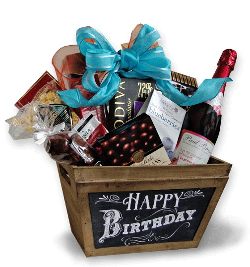happy birthday basket ; ed36d34f0990b78bd6f0b2eab2c41d3c--wrapping-ideas-gift-wrapping