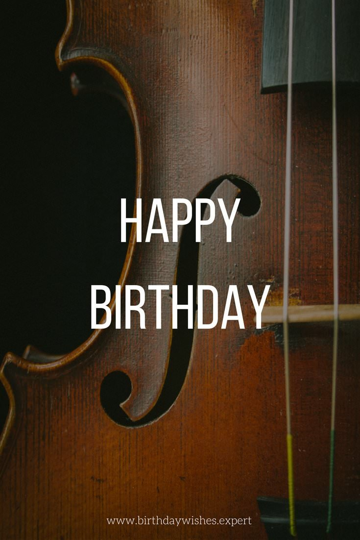 happy birthday bass ; Happy-Birthday-greetings-on-photo-of-violin