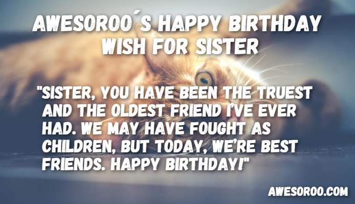 happy birthday best friend sister ; cat-in-a-birthday-card