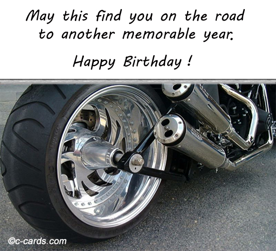 happy birthday biker ; 305119
