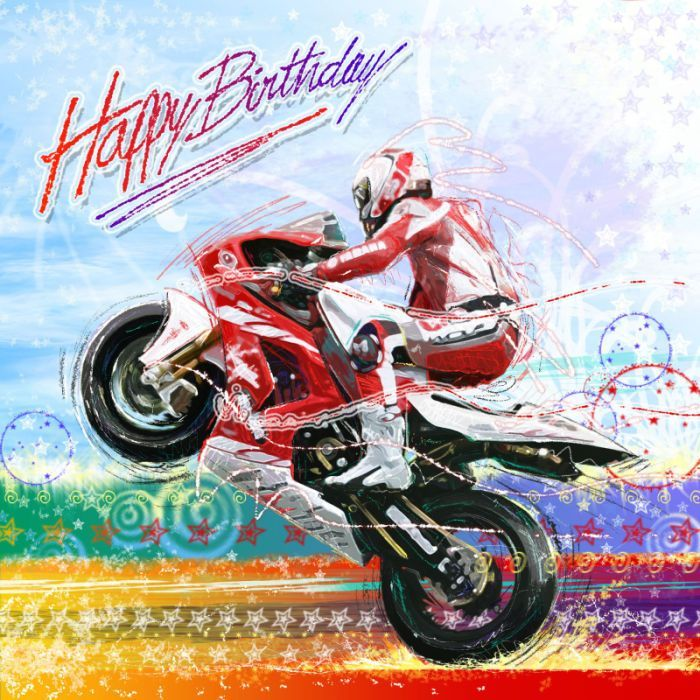 happy birthday biker ; 58c2765b3075d555af4f7ea4bab6e8db