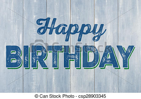 happy birthday blue ; blue-wooden-wall-with-the-inscription-stock-photo_csp28903345