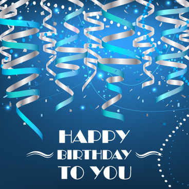 happy birthday blue ; paper_tapes_with_confetti_happy_birthday_background_vector_580113