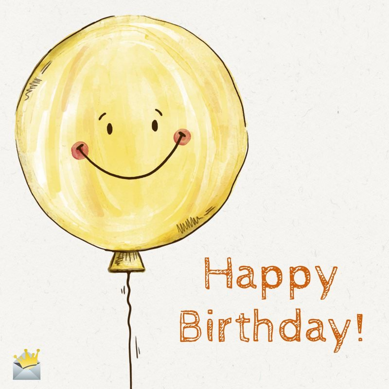 happy birthday buddy ; Cute-birthday-wish-for-best-friend-with-hand-drawing-of-a-happy-balloon