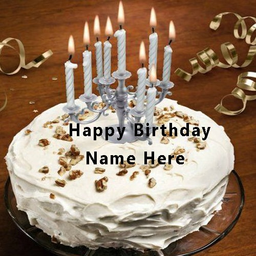 happy birthday cake with candles ; Write-Name-On-Happy-Birthday-Cake-With-Candle1465229909