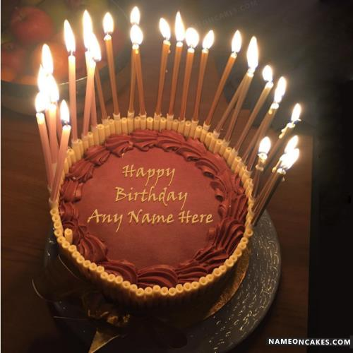 happy birthday cake with candles ; name-on-happy-birthday-chocolate-cake-with-candles61cc
