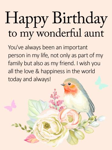 happy birthday card for my aunt ; 4419b8ae116848219af5185893304b6d