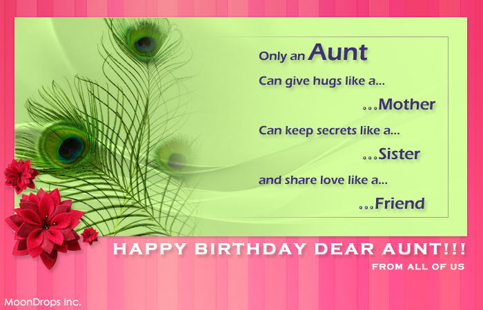 happy birthday card for my aunt ; peddatta_bday