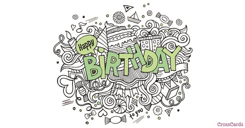 happy birthday card images for him ; 50071-hb-green