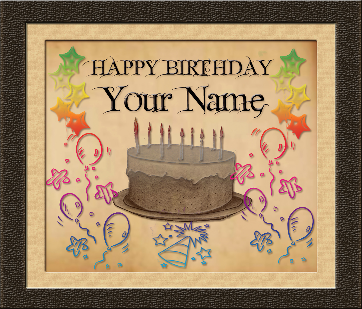 happy birthday card pictures with name ; HappyBirthdayYourName