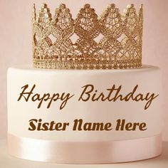 happy birthday card with name edit free download ; 003b81c4f18452f99c7f2bd98b1da1c1--flower-birthday-cakes-princess-birthday-cakes