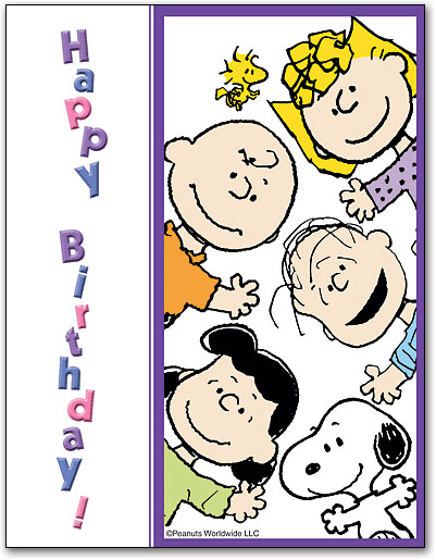 happy birthday charlie brown ; LC2181