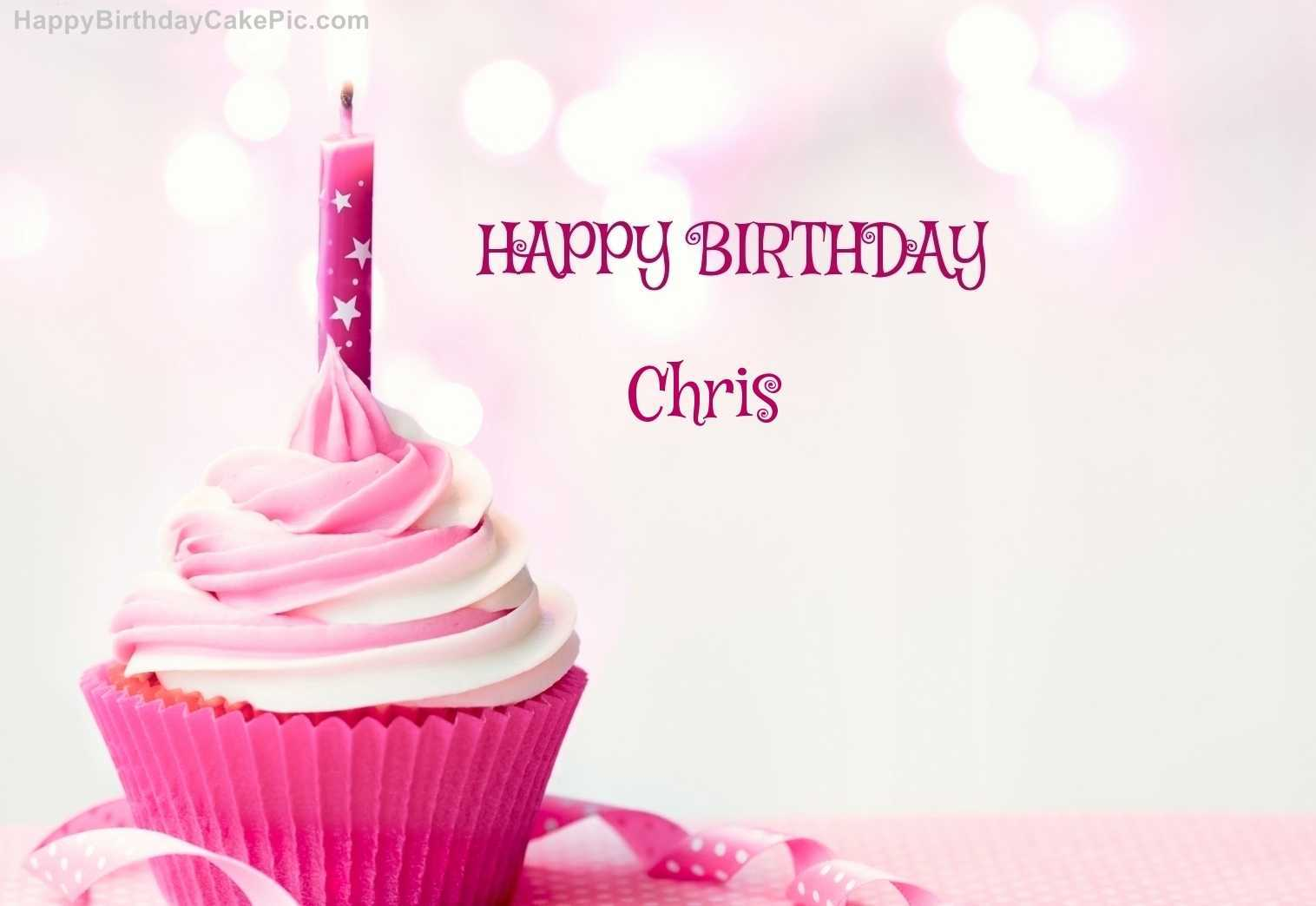 happy birthday chris ; happy-birthday-christopher-images-beautiful-happy-birthday-cupcake-candle-pink-cake-for-chris-of-happy-birthday-christopher-images