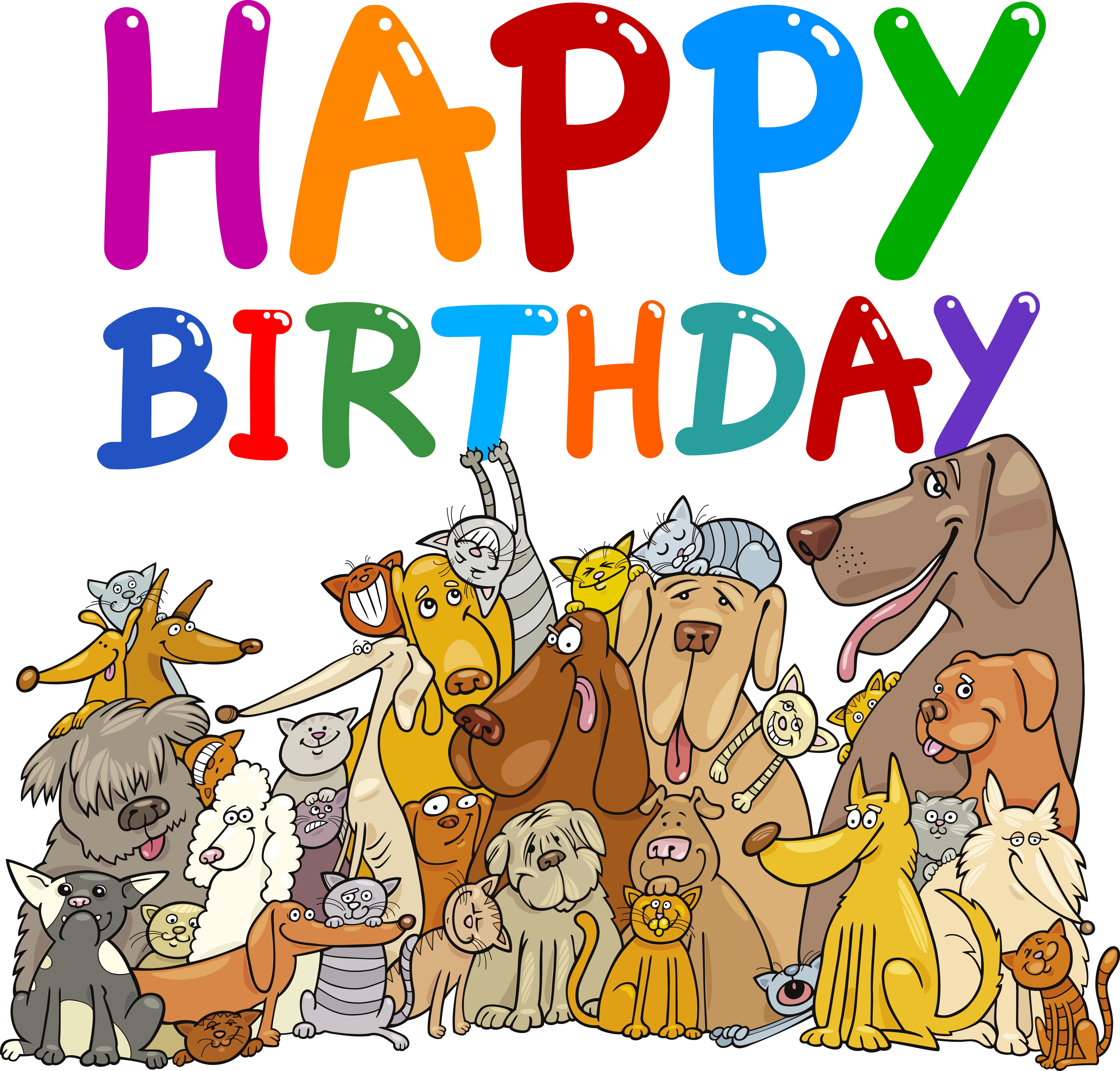 happy birthday clip art with dogs ; funny-birthday-dog-clipart-1
