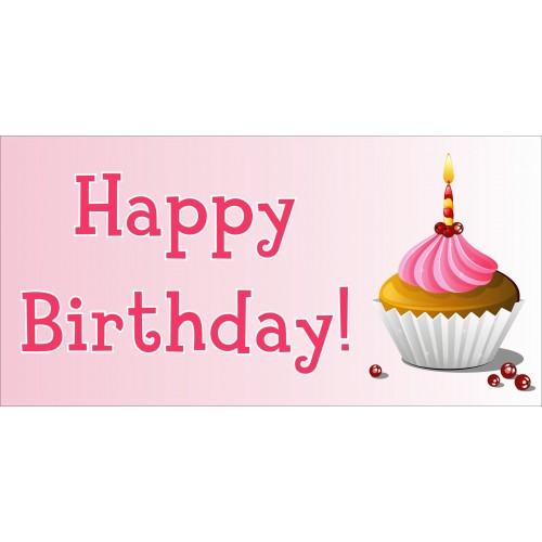 happy birthday cupcake sign ; happy_birthday_banners_4_1