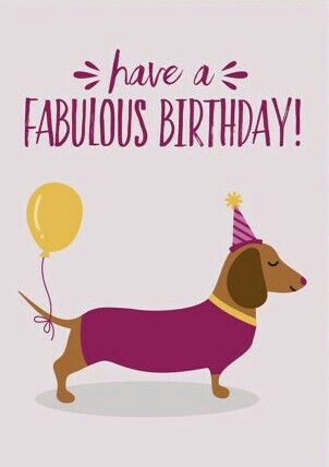 happy birthday dachshund ; 4a1c593cd0301fa0cb4e968bfe63cec8