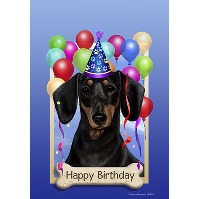 happy birthday dachshund ; dachshund-blk-tan-580081-40